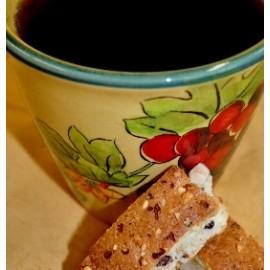 Chocolate Dipped Almond Biscotti Coffee (1 Pound)